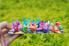 Free Paper Crane Royalty Free Stock Photography - 9688347