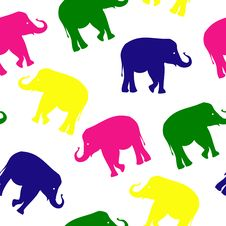 Free Seamless Elephant Pattern Stock Image - 9689151