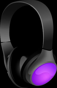 Free Technology, Headphones, Audio Equipment, Purple Stock Images - 96805164