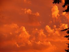 Free Sky, Afterglow, Red Sky At Morning, Cloud Stock Image - 96819541