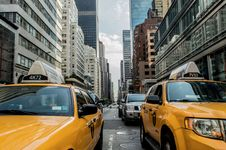 Free Car, Motor Vehicle, Metropolitan Area, Yellow Royalty Free Stock Photography - 96856667