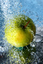 Free Apple In Water Royalty Free Stock Image - 9691986