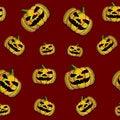 Free Halloween Seamless Tile Royalty Free Stock Photos - 9694848