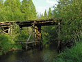 Free The Bridge On The Road Through The Forest. Royalty Free Stock Photo - 9694945