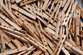 Free A Closeup Of A Group Of Clothes Pegs Stock Images - 9695474