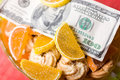 Free Paper Money And Sweets Royalty Free Stock Photos - 9696108