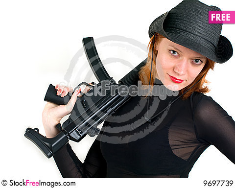 Free Woman In A Cowboy Hat Royalty Free Stock Images - 9697739