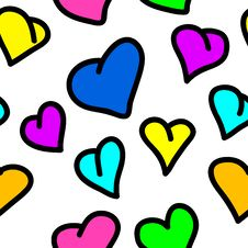 Free Seamless Valentine Pattern Stock Photo - 9690050