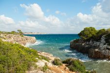 Free Serene Landscape Of The Mediterranean Seashore Stock Images - 9690224