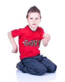 Free Cute Blue-eyed Boy Posing Stock Photos - 9690333