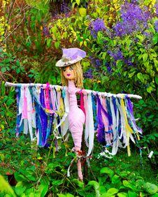 Colorful Female Scarecrow Royalty Free Stock Photos