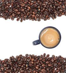 Free Coffee Bean Background Royalty Free Stock Photos - 9690388