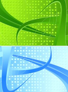 Free Two Abstract Banners Royalty Free Stock Images - 9691119