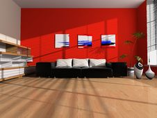 Free Modern Interior Of The Room Royalty Free Stock Photos - 9691368