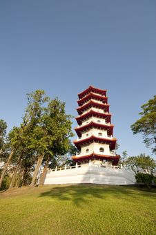 Free Chinese Pagoda In Park Stock Photography - 9691972