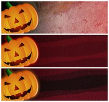Free Grunge Halloween Headers Or Banners Stock Photography - 9692002