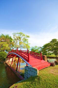 Free Bridge In Garden Stock Image - 9692011