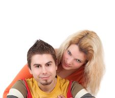 Free Two Young People Together Royalty Free Stock Photos - 9692398
