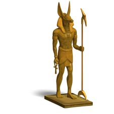 Statue Of Egyptian God Anubis Royalty Free Stock Photo
