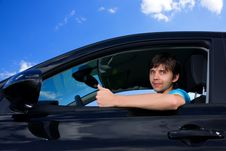 Free Successful Young Man Sitting In Own Car Stock Photos - 9693253
