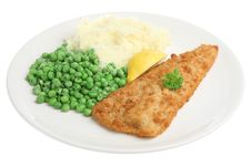 Free Cod Fillet With Mash & Peas Stock Images - 9693954