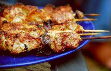 Free Pork Kebab Royalty Free Stock Photos - 9694378