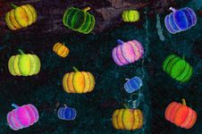 Free Grunge Psychedelic Pumpkins Background Royalty Free Stock Image - 9694446