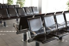 Free Airport Chairs Royalty Free Stock Image - 9694586