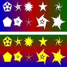 Free Stars And Pentagons Royalty Free Stock Photos - 9694618