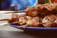 Free Pork Kebab Royalty Free Stock Image - 9694636