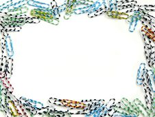 Free Frame Made From Colored Paperclips Royalty Free Stock Photo - 9694805