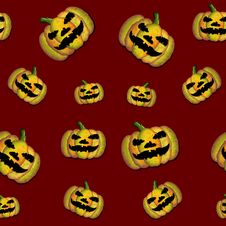 Free Halloween Seamless Tile Royalty Free Stock Photos - 9694848