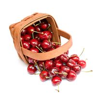 Free Basket Of Cherries Stock Image - 9694851