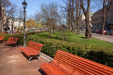 Free Park Benches Royalty Free Stock Photos - 9694978