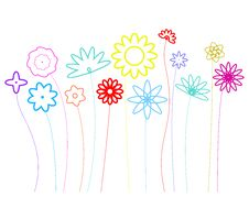 Free Floral-design-shapes-rgb Royalty Free Stock Photography - 9695097