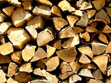Free Pile Of Split Firewood Royalty Free Stock Photo - 9695485