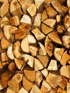 Free Fire Wood From A Tree The Chipped Royalty Free Stock Photos - 9695698