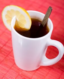 Free Cup With Black Tea Royalty Free Stock Photo - 9695895
