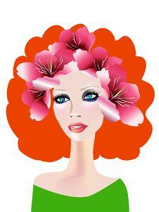 Free Creative Floral Girl Stock Photos - 9696073