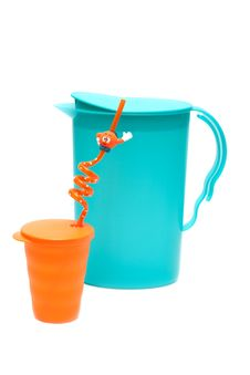 Free Plastic Pitcher And Glass Stock Photos - 9696093