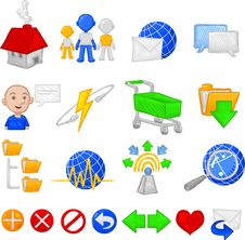 Free Internet Organicons Stock Image - 9696411