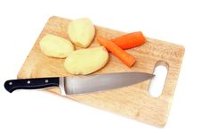 Free Knife Potato And Carrots Stock Photo - 9696470