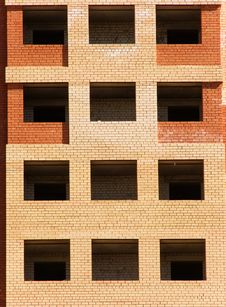 Windows Of The House From A Brick Stock Images