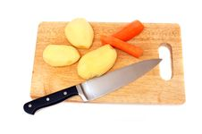 Free Knife Potato And Carrots Royalty Free Stock Image - 9696546