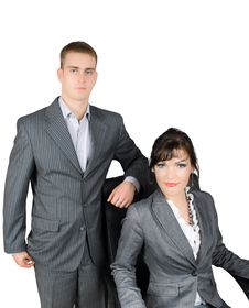 Portrait Of Couple  Of Businessmen Isolated Royalty Free Stock Photography