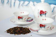 Free Green Tea Set Royalty Free Stock Photos - 9697158
