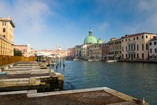 Free Venice Channel With  Boats Stock Photography - 9697572