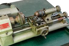 Free Small Portable Lathe Isolated Closeup Stock Photo - 9698250