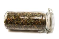Free Herbs In A Jar Royalty Free Stock Image - 9699136