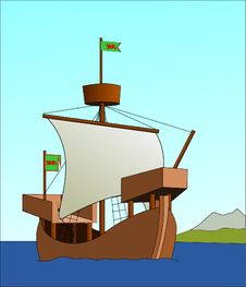 Free Watercraft, Caravel, Sailing Ship, Cartoon Royalty Free Stock Images - 96911849
